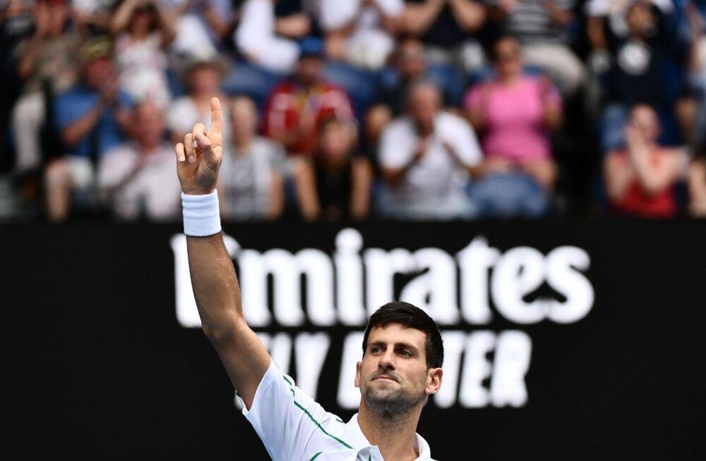 Rekordimees Novak Djokovic näitas võimu, maailma kuues reket ei pidanud platsilegi tulema