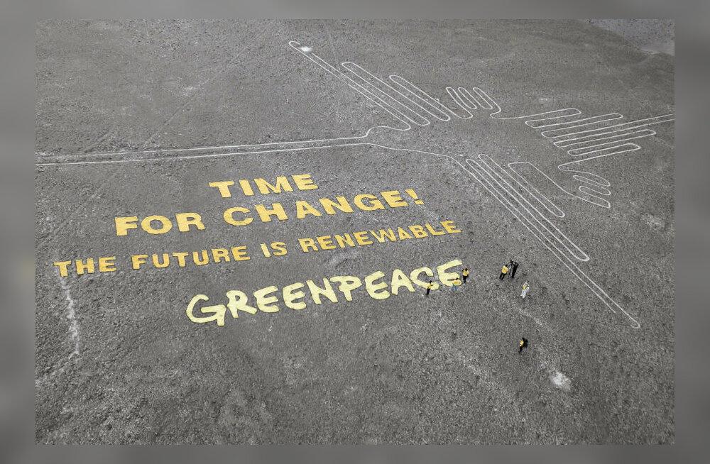 Greenpeace palus vabandust Nazca joonte äpardunud aktsiooni eest Peruus
