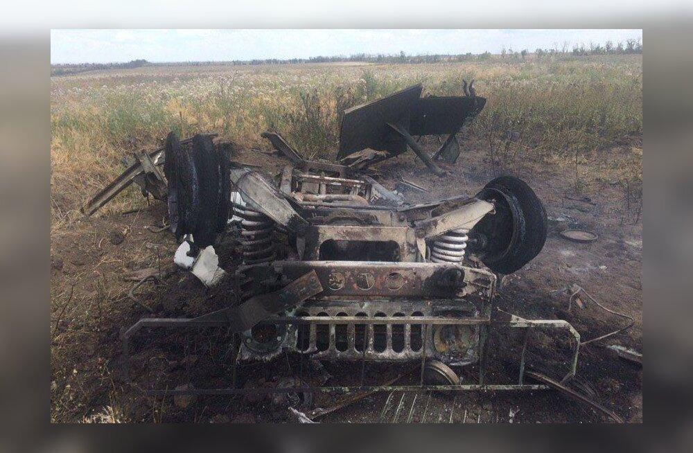 Ukraina vägede evakuatsioonisõiduk sai Donbassis raketitabamuse