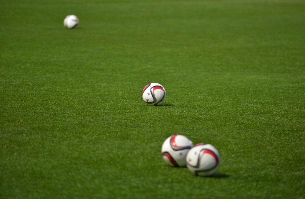 Eesti jalgpallikoondise treeningul