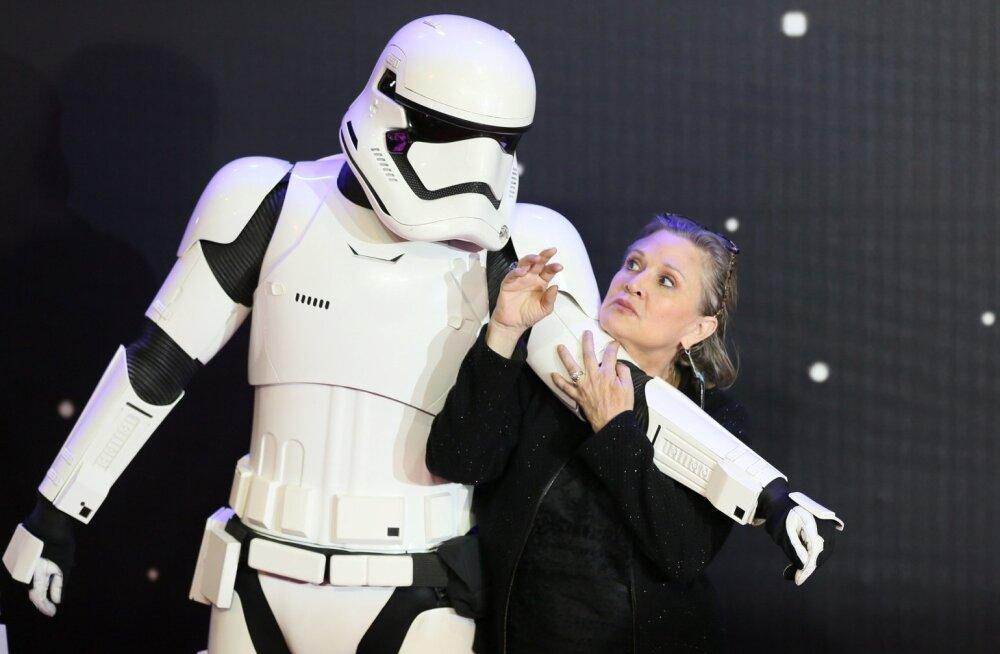 """""""Tähtede sõja"""" staari Carrie Fisheri organismist leiti kolme tüüpi narkootikume"""