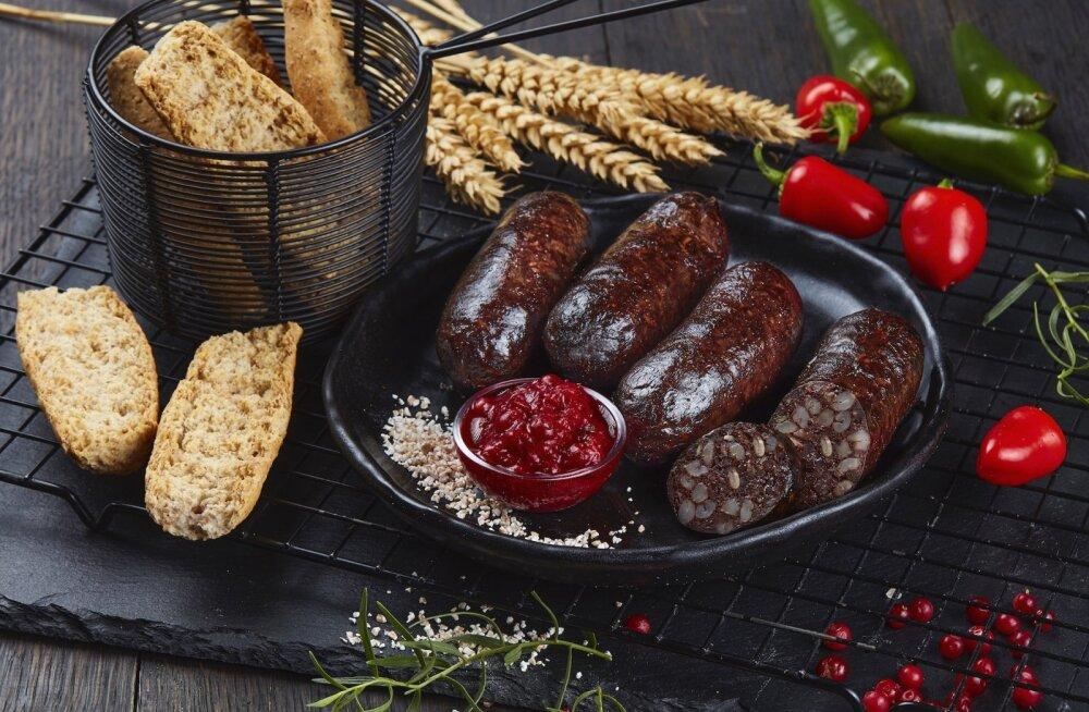 Сколько кровяной колбасы съедает в среднем на Рождество житель Эстонии?