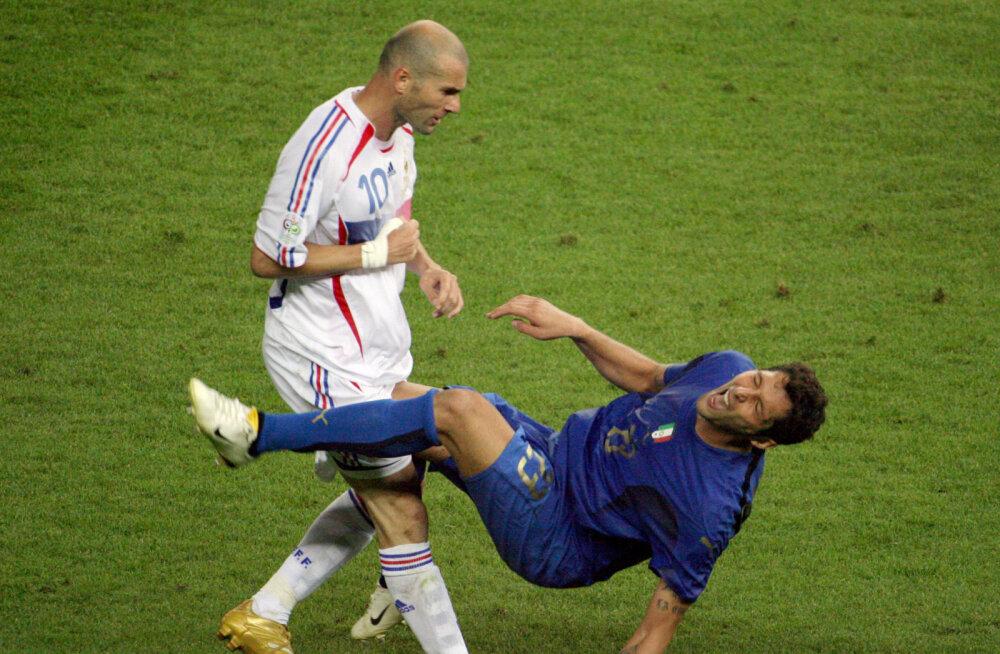Itaalia jalgpallitäht Zidane'i kurikuulsast löögist: tegin nalja tema õe kohta