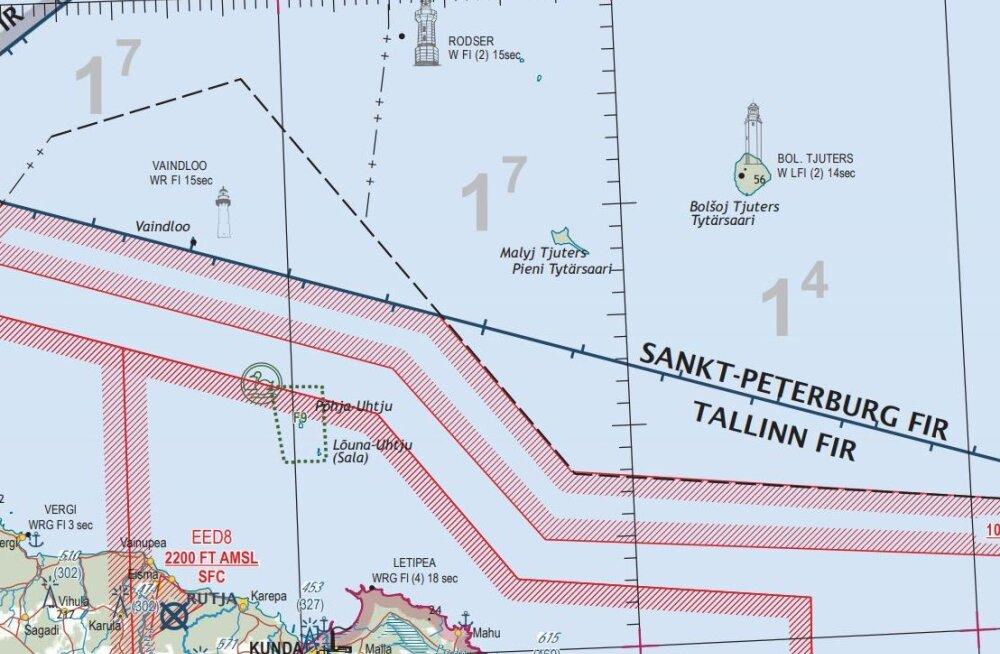 Lennuamet: sagedased õhupiiri rikkumised on tingitud asjaolust, et Vaindloo saare kohal osutab lennuliiklusteenuseid Venemaa