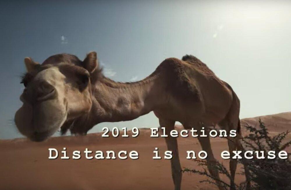VIDEO | Distants ei ole takistus! Vaata, kuidas eestlased e-hääletavad Omaani kõrbes