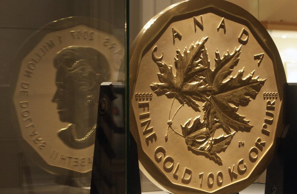 Maailma suurim ja raskeim kuldmünt on taas müügis