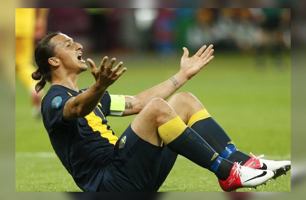 Ibrahimović vihastas, Rootsi treener sõimas mängijaid argpüksteks