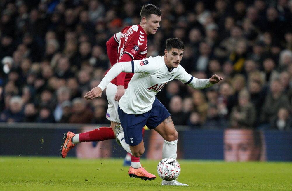 Tottenhami ründav poolkaitsja Erik Lamela