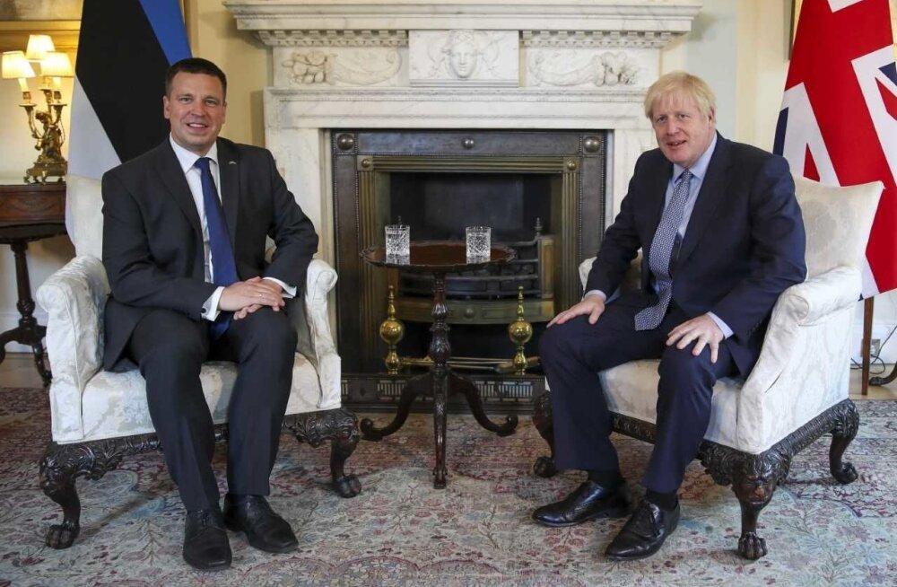 Peaminister Jüri Ratas kohtus Ühendkuningriigi peaministri Boris Johnsoniga