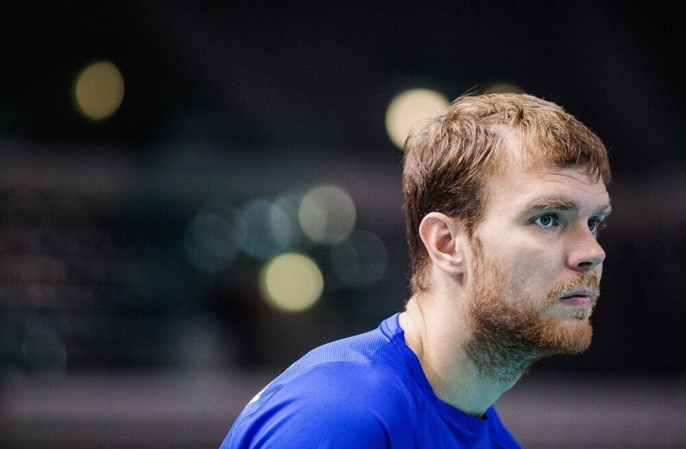 Eesti võrkpallikoondise treening PalaVela Arenal Torinos.