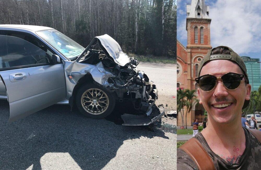 FOTO: Lauri Pedaja viidi Tartu maantee ahelavariis saadud vigastustega haiglasse