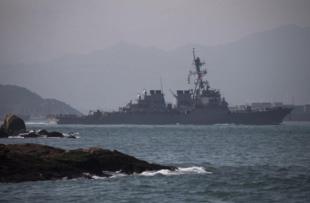 Hiina peatas protestide toetamise eest USA laevade visiidid Hongkongi
