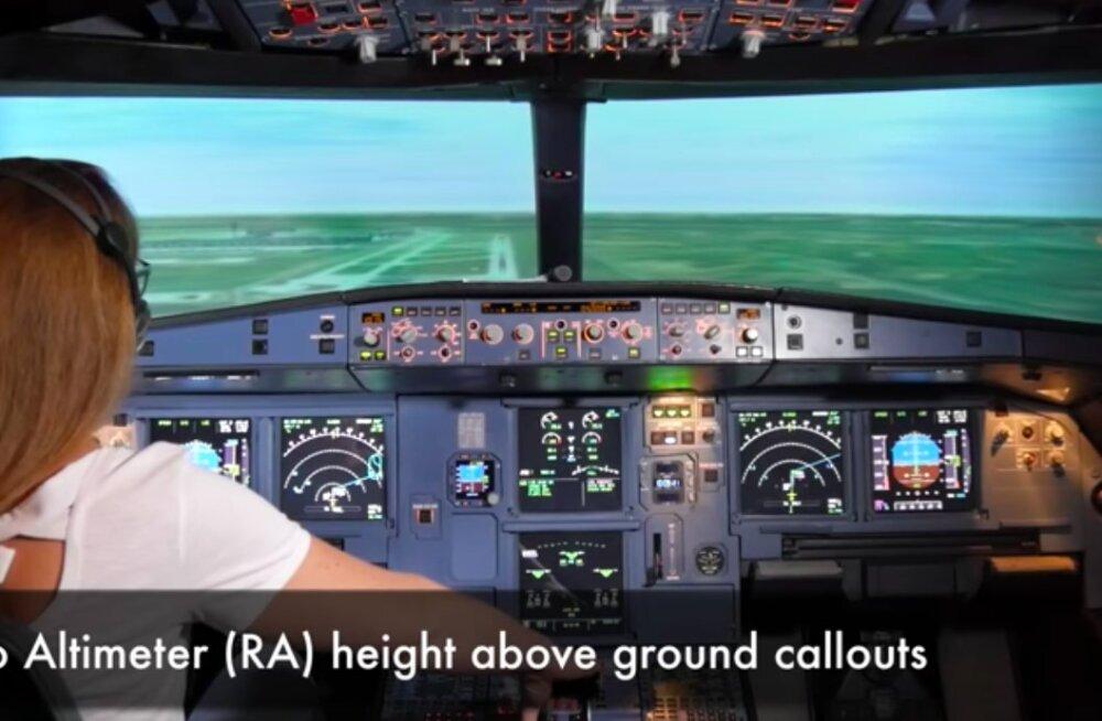 VIDEO   Kas reisija suudab lennuki maandada?