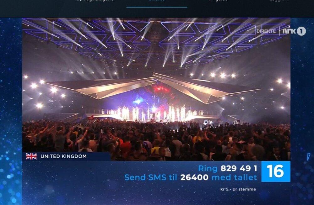 Eurovisionil hääletamine oli Norras viis korda odavam kui Eestis.