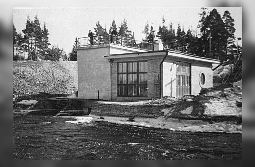 Kotka hüdroelektrijaama välisvaade aastal 1955.Kotka hüdroelektrijaama välisvaade aastal 1955.Kotka hüdroelektrijaama välisvaade aastal 1955.