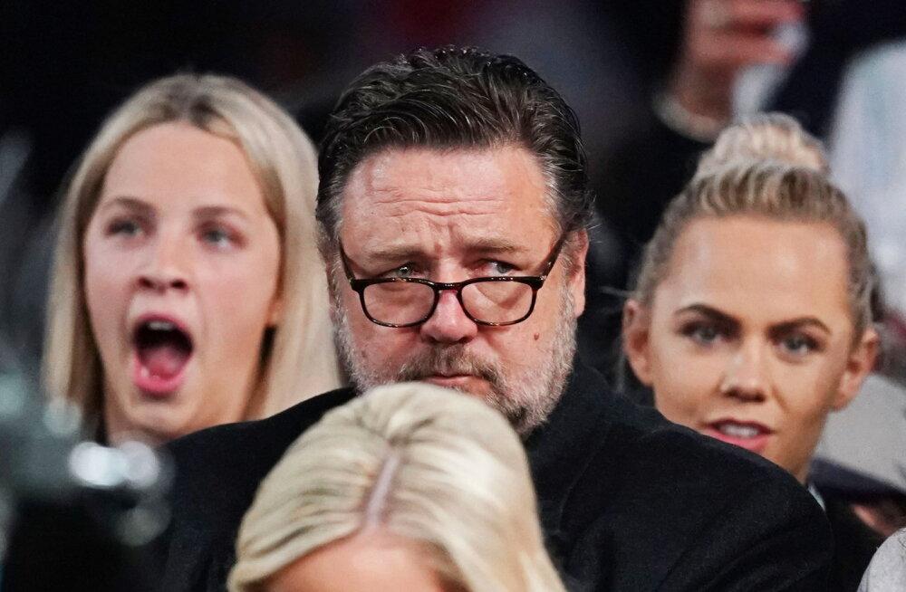 Russell Crowe  tribüünil