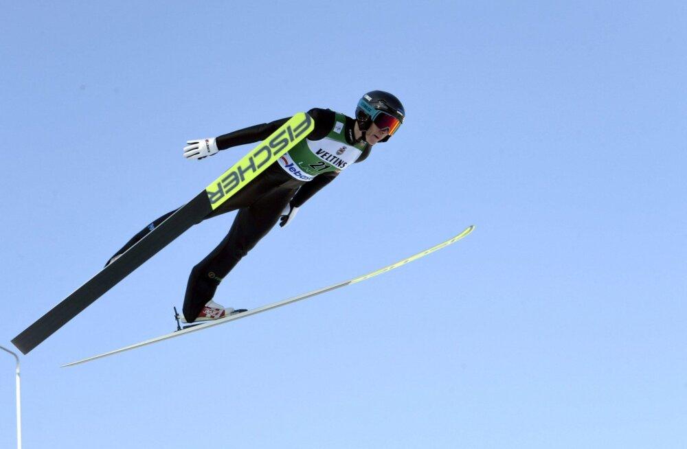 Kristjan Ilves näitas Oslo MK-etapil taas suurepärast lendu ja sai proovivõistlusel teise koha