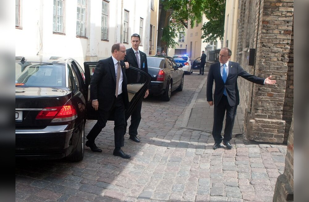 Monaco vürst Albert II Toompeal
