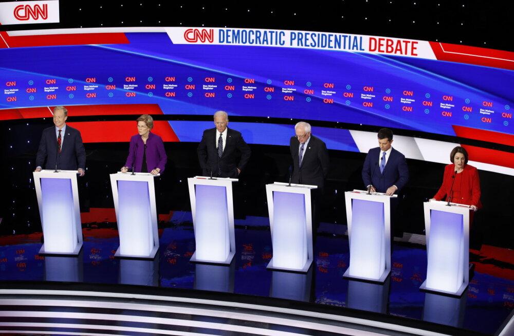 USA demokraatide valimisdebatil arutati, kas naine suudab Valgesse Majja jõuda