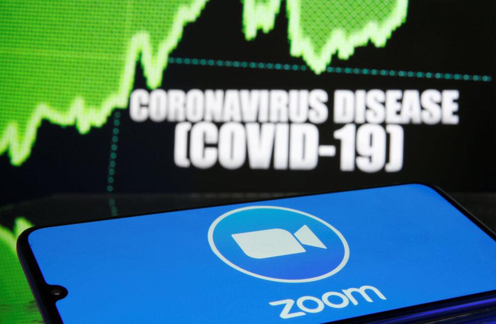 Koroonaaja valus trend: koondamisteade Zoomis
