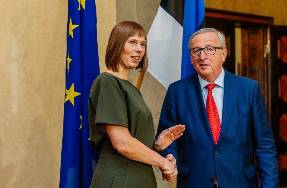 President Kaljulaid kohtus Kadriorus Tuski ja Junckeriga