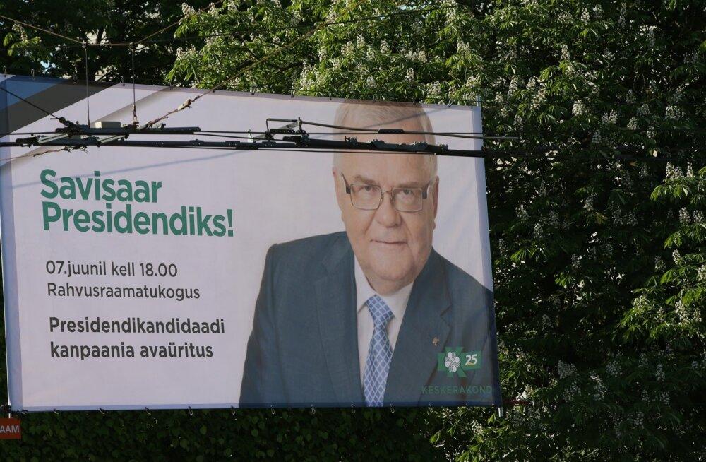 """Eile riputati Tallinnas üles plakat """"Savisaar Presidendiks!"""", millele """"kampaania"""" asemel on kirjutatud """"kanpaania"""" ja arusaamatul põhjusel on sõna president suure algustähega."""