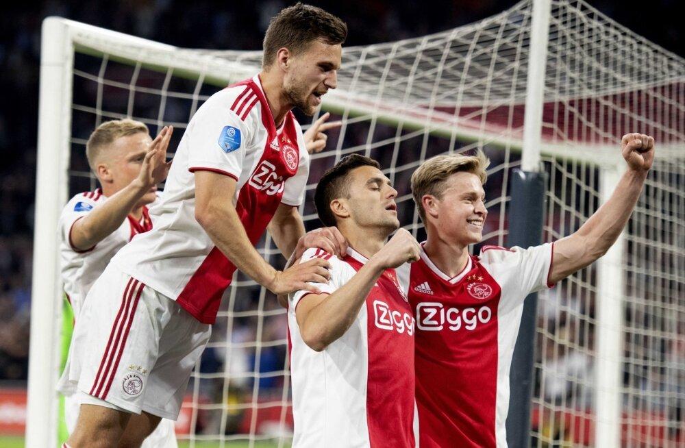 Amsterdami Ajaxi mängijad on saanud sel hooajal kõvasti rõõmustada.