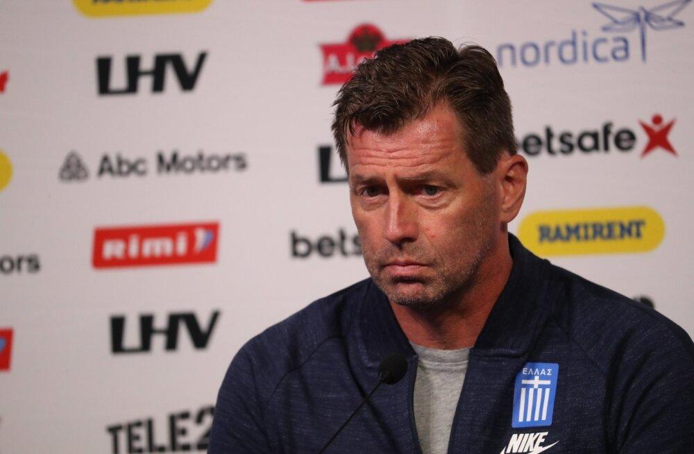 Kreeka peatreener Skibbe: mängu lõpus oli iga Eesti aut ja nurgalöök kohe ohtlik võimalus, õnneks suutsime võidust kinni hoida