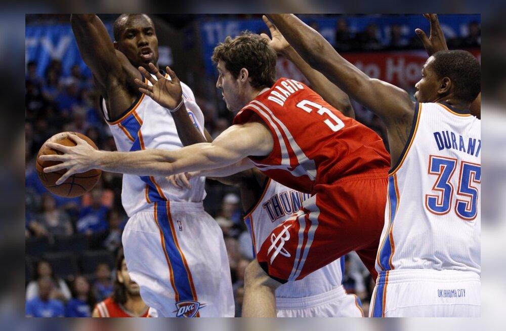 Vastasseis Thunder - Rockets, NBA, korvpall