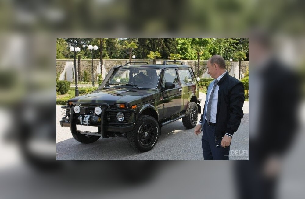 Väheseid nõukogude algupärandeid on Niva, kuigi Putini eksemplaril on Opeli mootor... Foto Aleksei Nikolski, AP