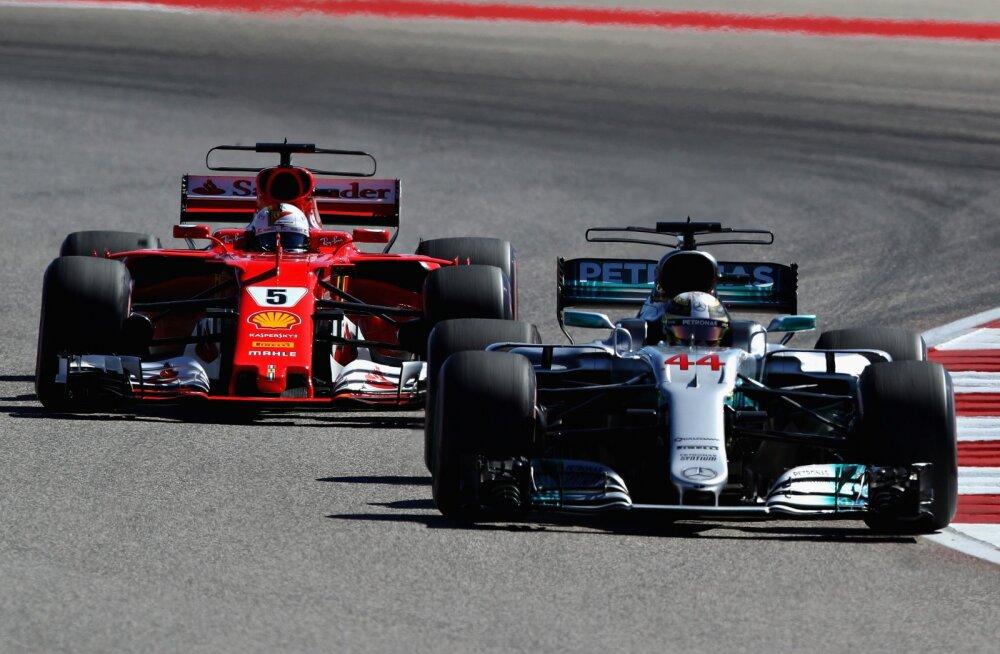 Hamilton võitis kindlalt USA GP, kohtunikud kukutasid Verstappeni poodiumilt