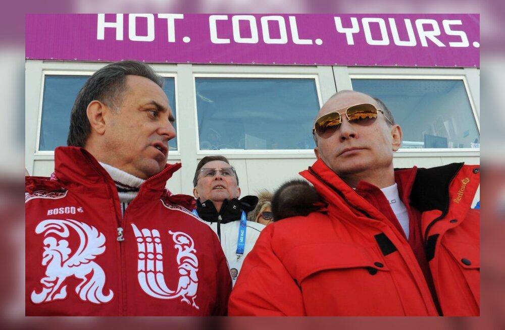 Vitali Mutko ja Vladimir Putin Sotši olümpial