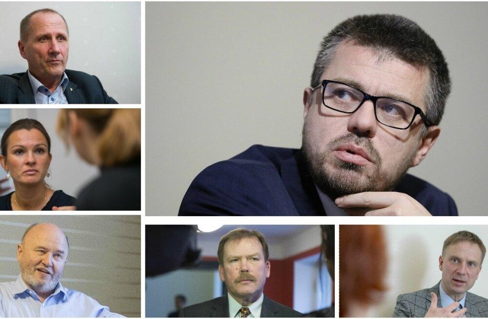 Valdo Randpere, Anne Sulling, Igor Gräzin, Johannes Kert, Eerik-Niiles Kross ja Urmas Reinsalu