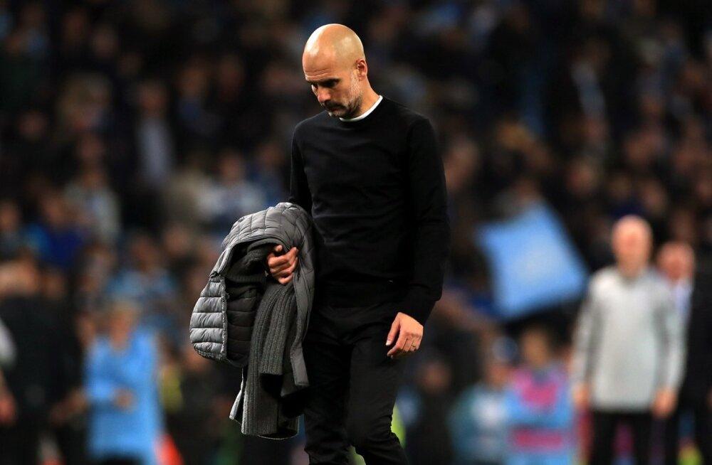 Üdini pettunud Pep Guardiola.