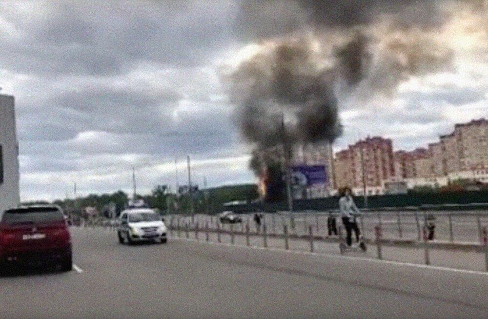 ФОТО и ВИДЕО: В Москве произошел взрыв у торгового центра