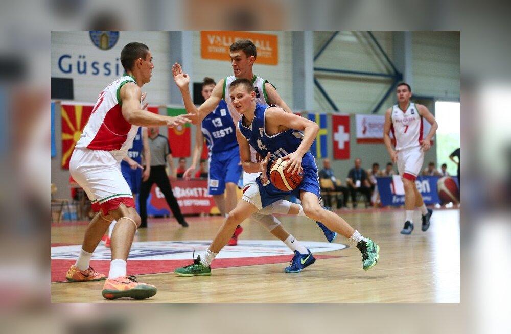 U18 korvpallikoondis kaotas napilt ka Austriale