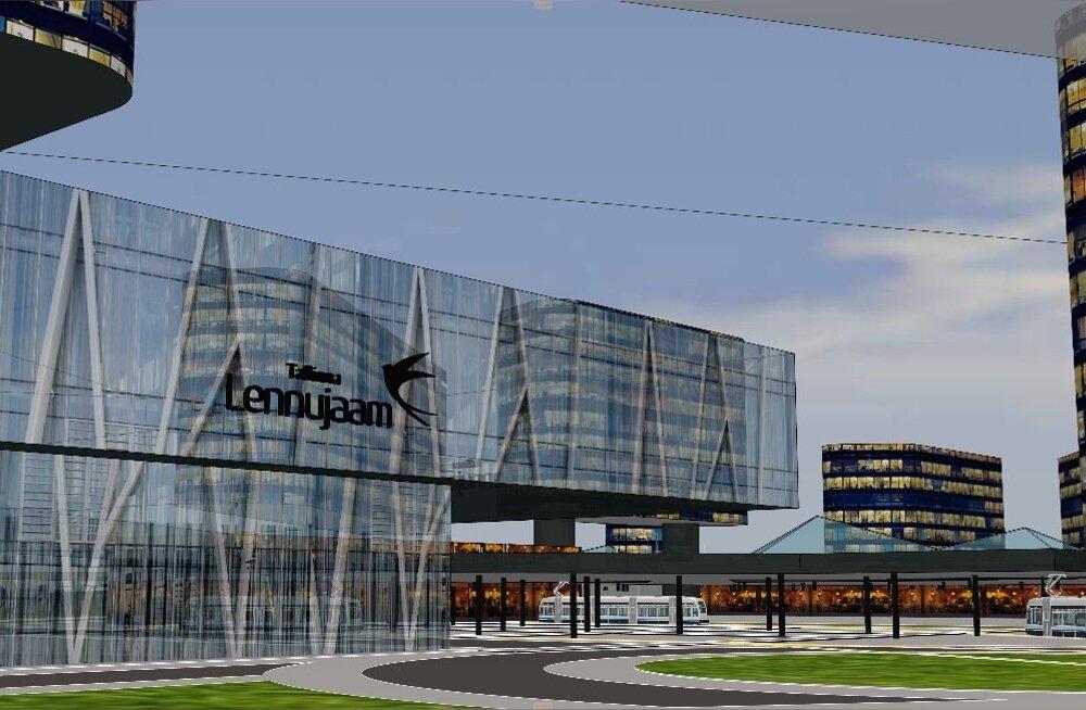 Tallinna lennujaama laiendus ja linnaku ehitus aastaks 2035