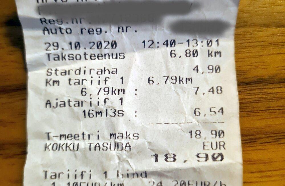 Tallinna taksosõidu eripärad: üheaegselt tiksuvad nii aja- kui kilomeetritasu
