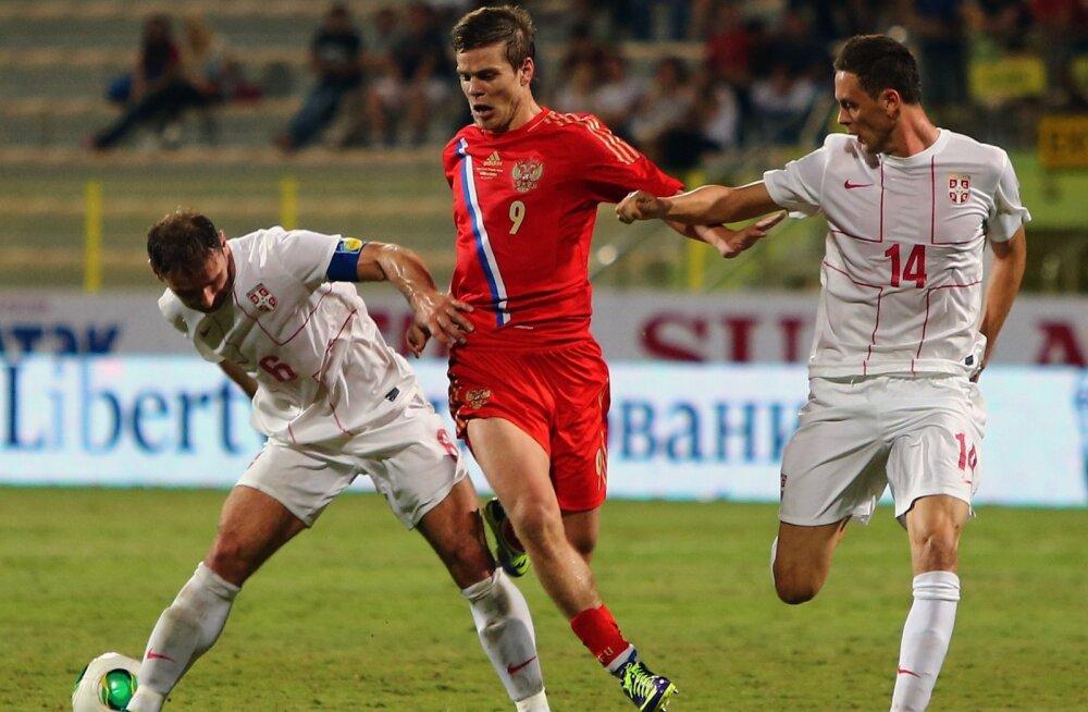 Chelsea mängijad Branislav Ivanović ja Nemanja Matić