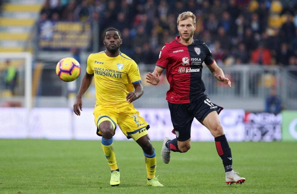 Klavan ja Cagliari alustasid Itaalia liigat mõnevõrra ootamatu kaotusega
