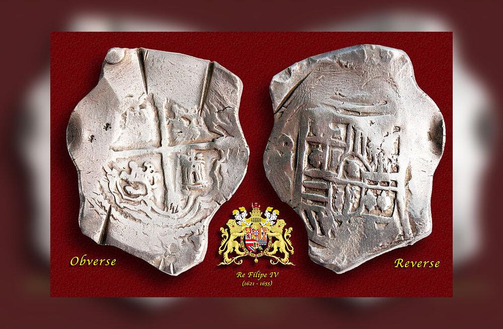 Mehhikos vermitud Hispaania dollar, u 1650