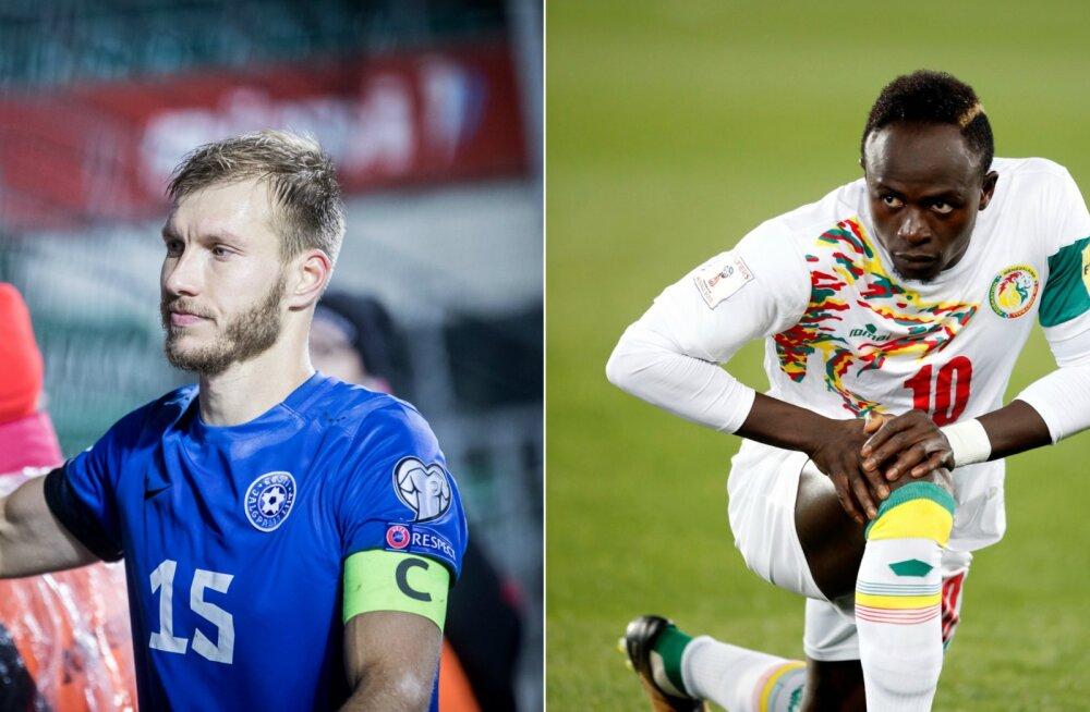 Ragnar Klavani ja Sadio Mane vastasseisu ei tule: Eesti koondis loobus sõprusmängust Senegaliga