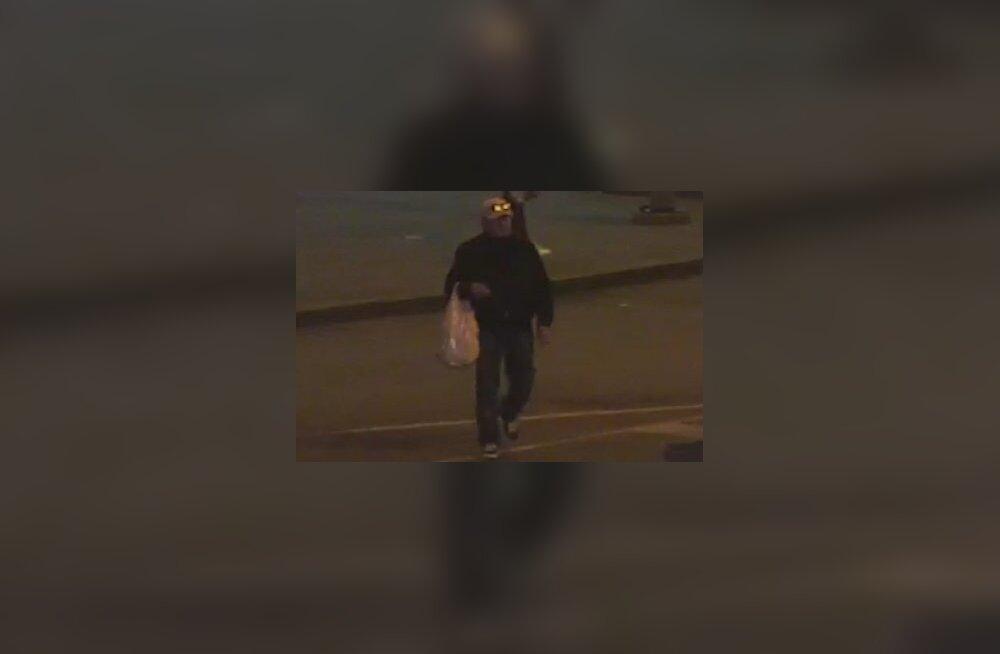 FOTO   Politsei otsib meest, keda kahtlustatakse teise inimese põlema süütamises