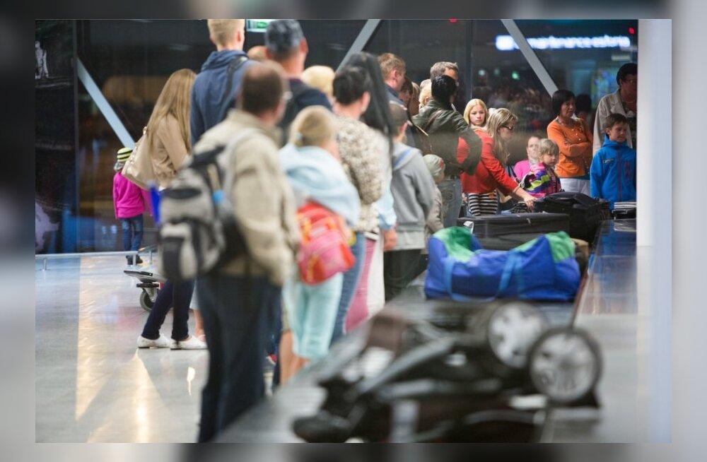 Sharm El Sheikist koju saabunud eestlased lennujaamas