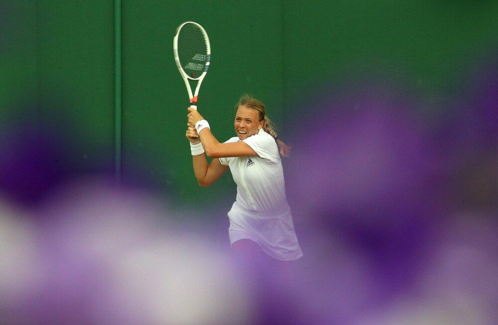 Anett Kontaveidile Wimbledonis suurepärane võit.