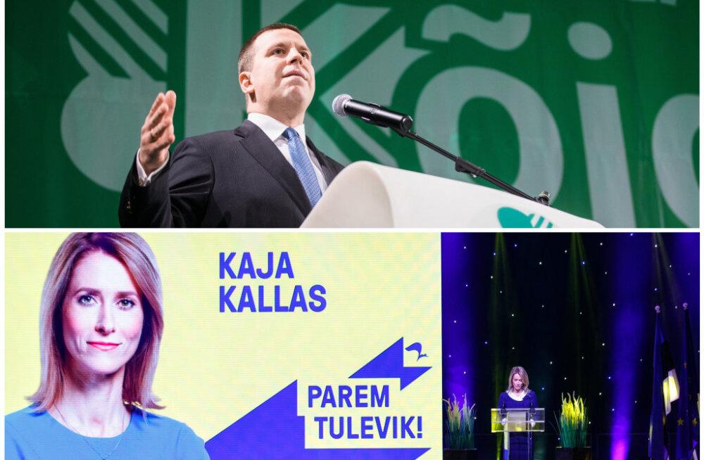 Analüüs suurparteide duellist: kes on rohkem võimujanune ja kel arvatust suuremad toetusreservid?