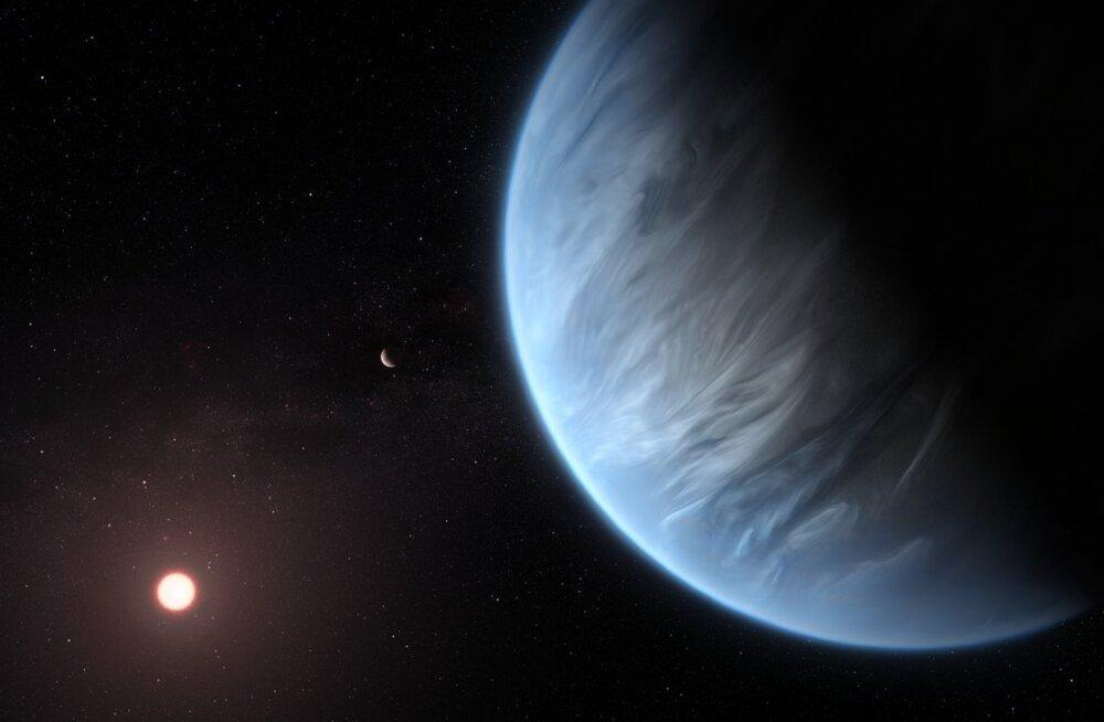Eluks sobilikul eksoplaneedil tuvastati vett