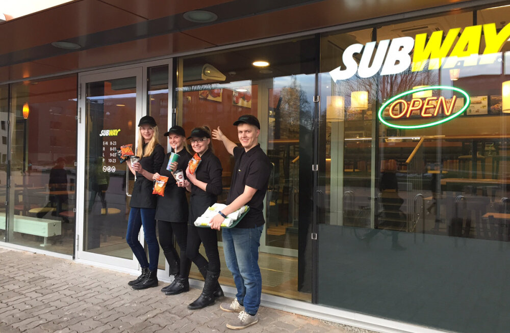 Emajõelinnas avati esimene Subway võileivarestoran