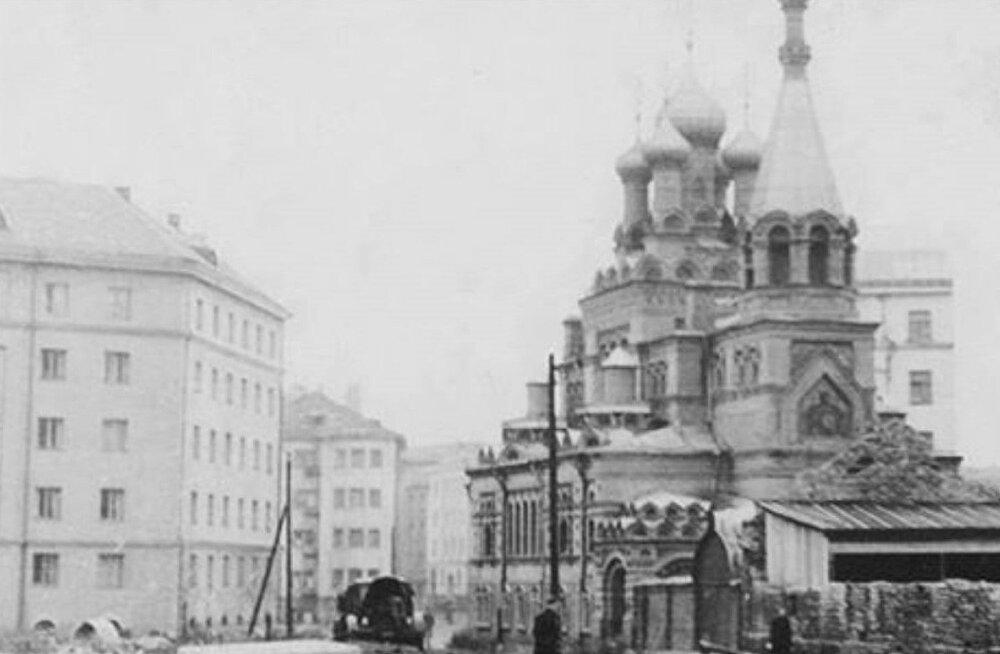 В центре Таллинна откроют стенд, посвященный Таллиннской Введенской церкви