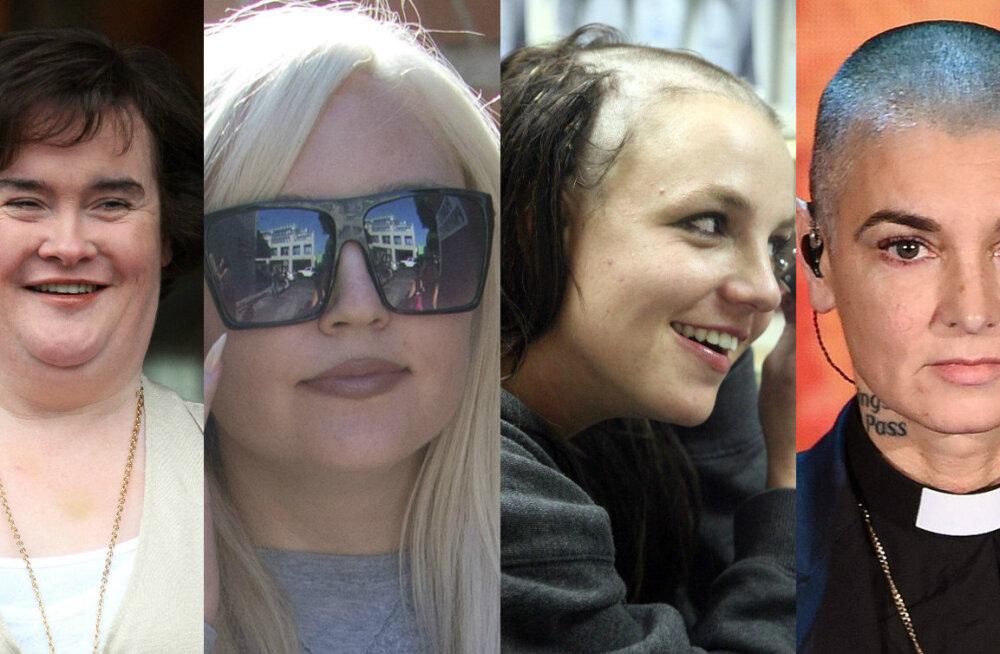 Susan Boyle, Amanda Bynes, Britney Spears, Sinead O'Connor